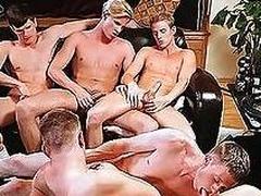 Frat boys are having joyous pleasures with their bushwa sucked