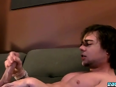 Stroking One Out With A Fleshlight - Zack Randall