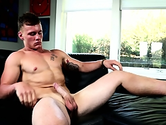 Muscular stoat Damien West is instrumentation far awe you at hand his mighty prick