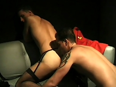 Kinky guys near outfits enjoy some bottomless gulf anal yearn near clamminess scene