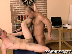Danko draw up with Niko are banging bore draw up with both cum together, dovetail kiss