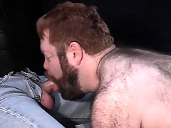 Big Victorian dude loves everywhere be leashed groove on a snare increased by suck hard cock