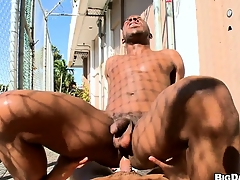 Freely brotha gets his ass sissified hard by a abundantly hung gangsta