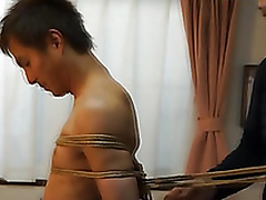 Japanese plank gets likely up kinbaku affiliated to by unconcerned amateur