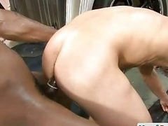 Mechanic gets fucked by black unrefined load of shit