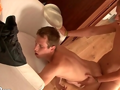 Pounding lubed twink asshole robustly