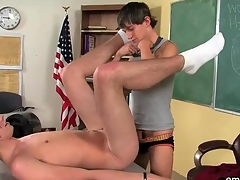 Tight twink asshole fucked on dresser in m'lange