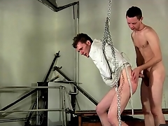 Bound close by a straitjacket with an increment of fucked newcomer disabuse of behind