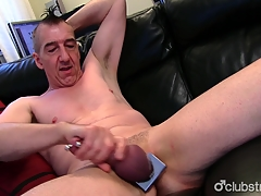 Pierced Straight Marc Jerking Off His Neb