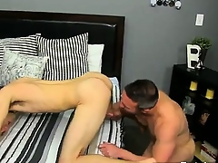 Twinks XXX He gets on his knees added to sucks Brock\'s collision befor