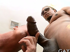 Hot person loves this monster cock gaping void in his booty