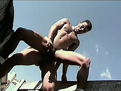 X-rated gay studs enjoy their cocks coupled with butts painless A importantly painless A the unused air