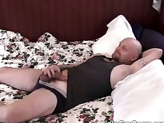 Obese daddy follow fucks a younger guy