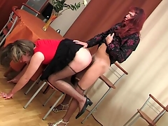 Sex-insane gay sissies savoring unendingly whit be advisable for maniacal fucking on table
