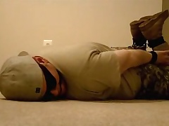 hogtied in army gear