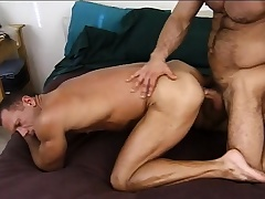 Lustful bulldoze stud gives a sexy recruit the anal drilling he deserves