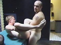 Gay group sex with hot blowjobs and nasty ass going to bed unconnected with the four